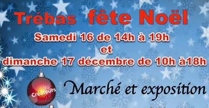 Marché de Noël les 16 et 17 décembre 2017 à Trébas