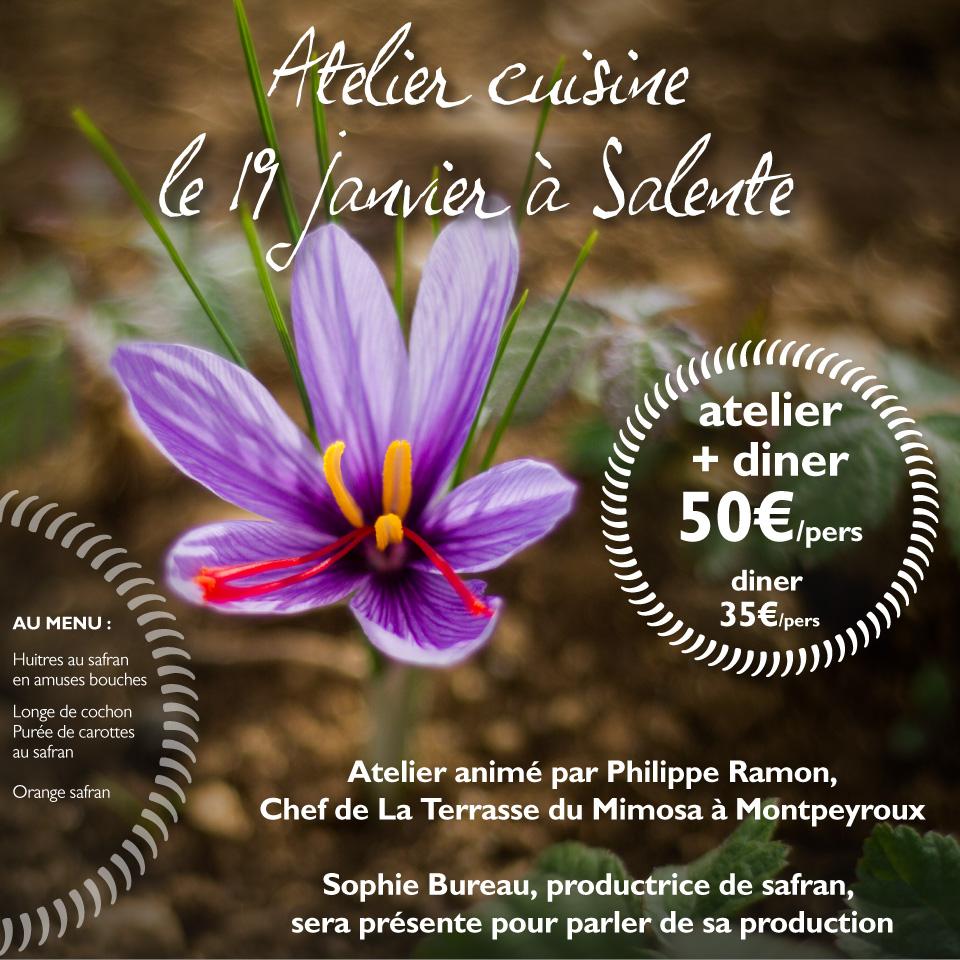 safran Kesara - atelier cuisine Salente 19 janvier 2018