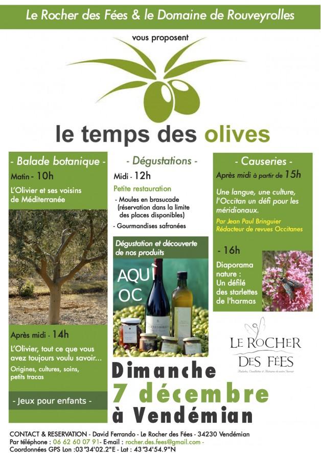 Le Temps des Olives le dimanche 7 décembre 2014 à Vendémian