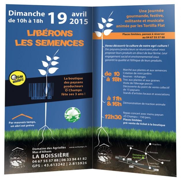 Libérons les Semences ! à La Boissière le 19 avril 2015 – Journée ANNULÉE